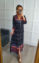 Boho Black Paisley Floral Maxi Summer Dress by GIGILAND UK