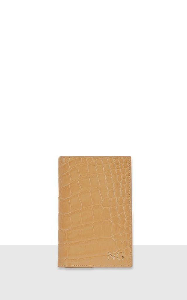 Caramel Croc Passport Cover by Azurina