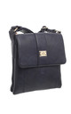 Two-Pocket Bessie Shoulder-Bag NAVY by BESSIE LONDON