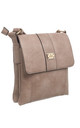 Two-Pocket Bessie Shoulder-Bag KHAKI by BESSIE LONDON