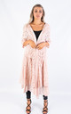 LONG COTTON CARDIGAN (BABY PINK) by Lucy Sparks