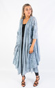 LONG COTTON CARDIGAN (DENIM) by Lucy Sparks