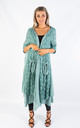 LONG COTTON CARDIGAN (LAKE GREEN) by Lucy Sparks