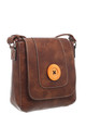CLASSIC FLAP OVER WOODEN BUTTON CROSS BODY BAG by BESSIE LONDON