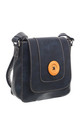 CLASSIC FLAP OVER WOODEN BUTTON CROSS BODY BAG NAVY by BESSIE LONDON