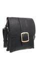 CLASSIC FLAP OVER BUCKLE CROSS BODY BAG BLACK by BESSIE LONDON