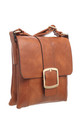 CLASSIC FLAP OVER BUCKLE CROSS BODY BAG TAN by BESSIE LONDON