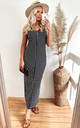 Strappy Maxi Dress in Black and White Stripe by CY Boutique