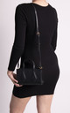 Ruby Small Black Patterned Handbag by KoKo Couture