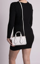 Ruby Small White Patterned Handbag by KoKo Couture