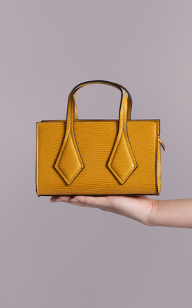 Ruby Small Yellow Patterned Handbag by KoKo Couture