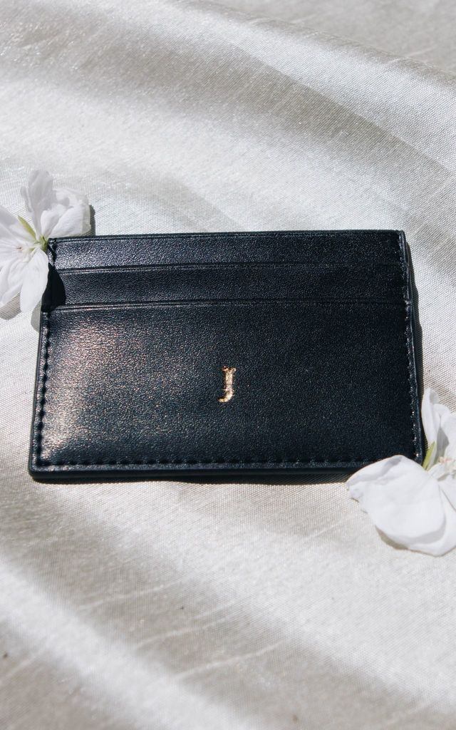 Black Smooth Cardholder by Azurina