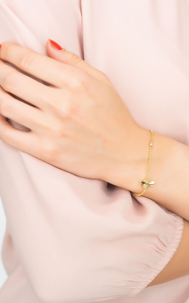 Queen Bee Bracelet Gold by Latelita