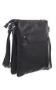 CLASSIC ZIPPER CROSSBODY BAG BLACK by BESSIE LONDON