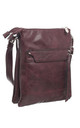 CLASSIC ZIPPER CROSSBODY BAG PURPLE by BESSIE LONDON