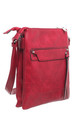 CLASSIC ZIPPER CROSSBODY BAG RED by BESSIE LONDON