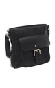 CLASSIC BUCKLE FRONT POCKET CORSS BODY BAG BLACK by BESSIE LONDON