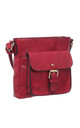 CLASSIC BUCKLE FRONT POCKET CORSS BODY BAG RED by BESSIE LONDON