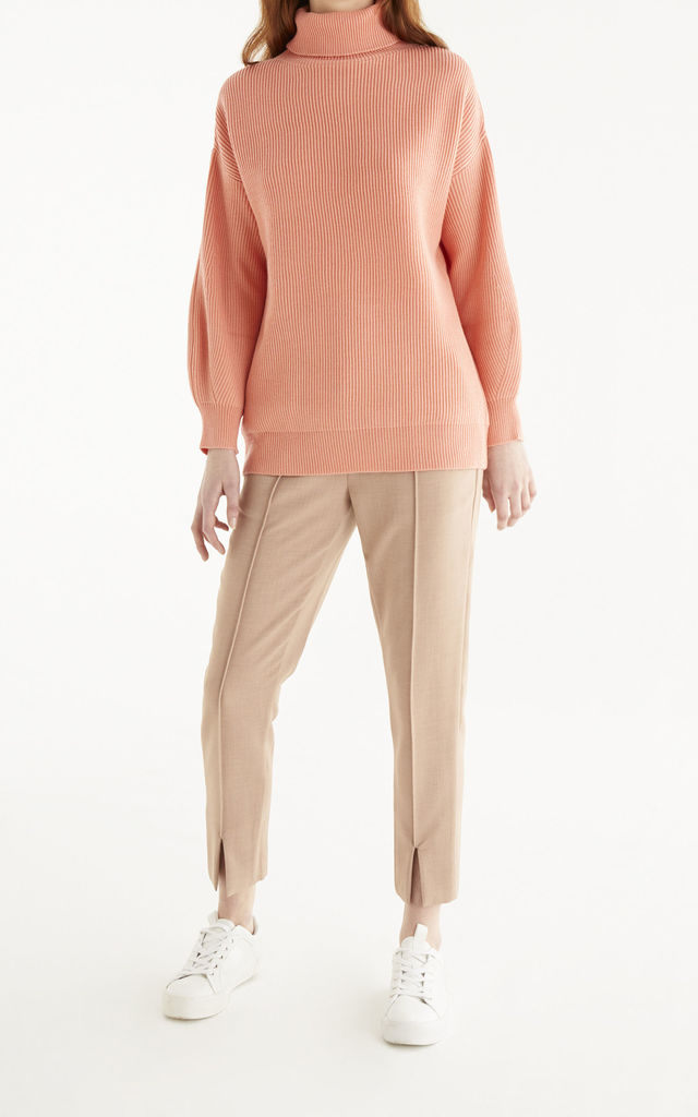 Eden Balloon Sleeve Jumper in Coral Pink by Paisie