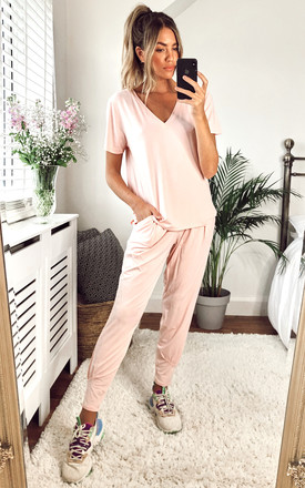 JESS LOUNGEWEAR SET- WITH CAP SLEEVE TOP by EDDI CLOTHING
