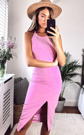 Vera Midi Dress With Open Back In Pink by Bardot Product photo