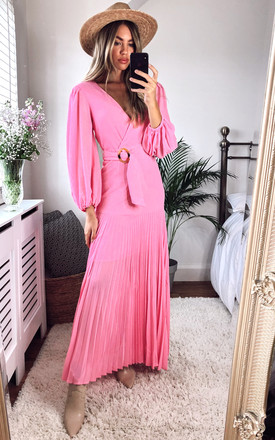 Daytona Maxi Dress In Pink by Bardot Product photo
