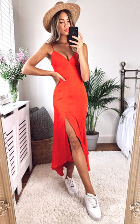 Deanna Strappy Midi Dress In Red by Bardot Product photo