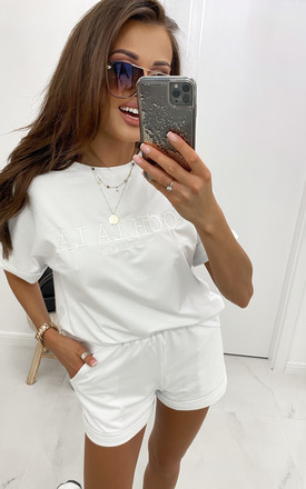 Comfy White Top with Logo by By Ooh La La