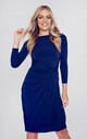 Navy dress long sleeves by Perfect Dress Company