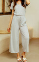 Light Grey Loose Jumpsuit With Short Sleeve by FS Collection
