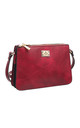 VINTAGE THREE POCKET CROSS BODY BAG RED by BESSIE LONDON