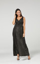Women's Maternity Sparkly Sleeveless Maxi Wedding Dress in Black by Chelsea Clark