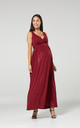 Women's Maternity Sparkly Sleeveless Maxi Wedding Dress- Red by Chelsea Clark