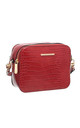 CROC PRINT CAMERA BAG RED by BESSIE LONDON