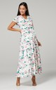 Maternity & Nursing Maxi Dress in Pink Floral Print Roses 599 by Chelsea Clark