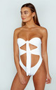 Tie Me Black Swimsuit White by Awfully Pretty