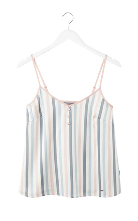 Mix and Match | Strappy Cami Pyjama Top in Candy Multi Stripe (Cami only) by Pretty You London