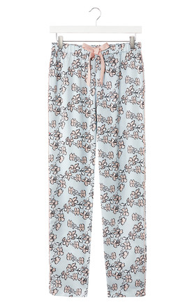 Mix and Match | Floral Nightwear Pyjama Trouser Bottoms in Duck Egg Blue (Trousers Only) by Pretty You London