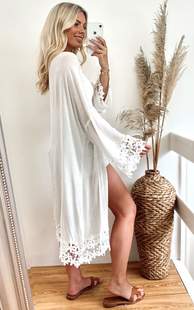 Cotton Blend Kimono by Jayley Collection