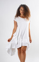Alma - Ruffle Detailed Skater Dress In White by Pinstripe