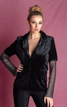 JACQUELINE BLACK GLITTER SPECIAL OCCASION BLAZER by IVY EKONG FASHION