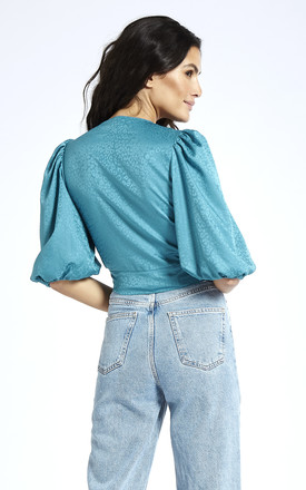 Puff Sleeve Top in Blue by SixtyNinety