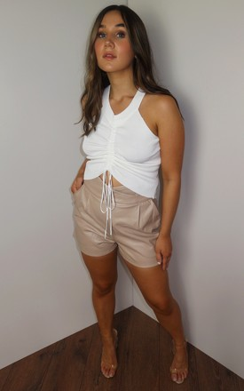 The In A Ruche Cropped Summer Top Cream by Doll And Me