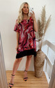 Oversized Short Sleeve Tunic in Pink and Black by CY Boutique