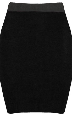 High Waisted Tube Mini Skirt in Black by Oops Fashion