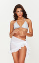 Ruffle Sarong in White by Toria Tonia