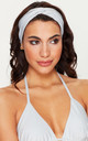 Silver Shimmer Twist Headband by Toria Tonia