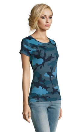Blue Camo printed T-Shirt by hydestyle london