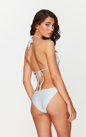Silver Shimmer Tie Side Bottoms by Toria Tonia