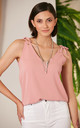 Pink Summer Cami Top with Adjustable Shoulders by Jenerique